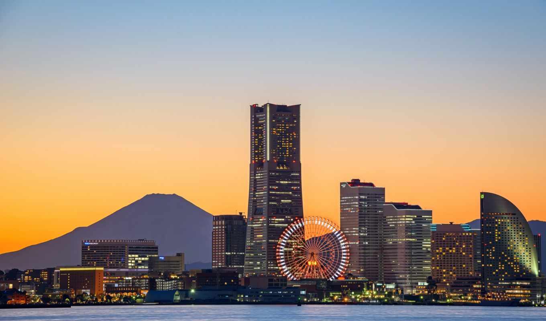 мира, городов, wheel, крупных, desktop, архитектуры, japanese, ferris,