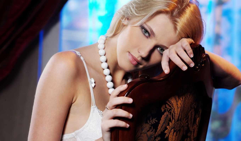 девушка, смотреть, french, блонд, лицо, blonde,