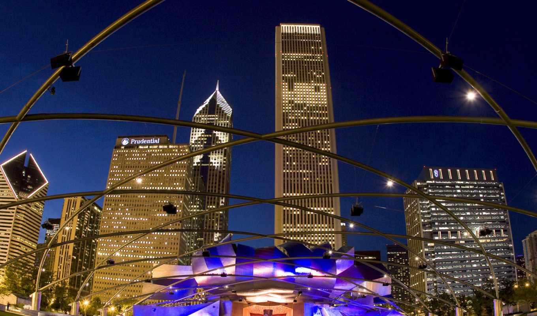 pritzker, pavilion, park, джей, chicago, millennium, architecture, grant, архитектурные,