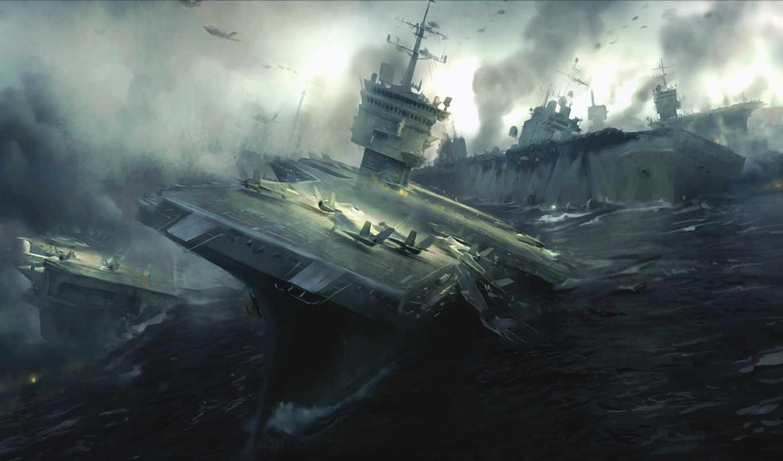 battlefield, premium, aircraft, carrier, attack, games, show, under, für,