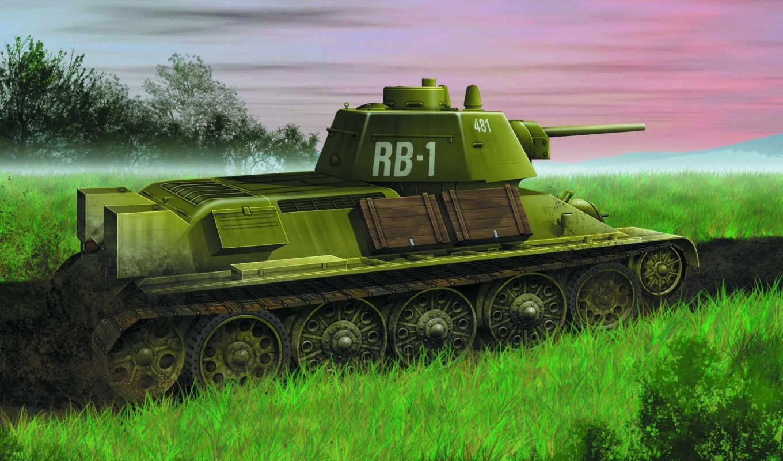 dragon, танк, тридцатьчетверка, средний, советский,