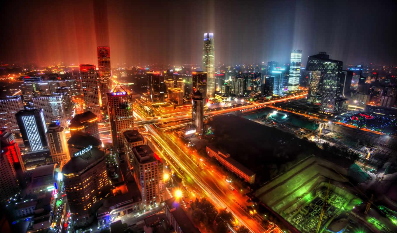 beijing, china, ratcliff, trey, городов, downtown, sed, after, night, rain, огни,