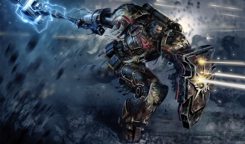 warhammer, картинка, красивая, космический, игры, десант, атака, выстрелы, янв,