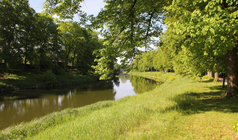 rzeka, park, tapety, trawa, pulpit, morze,