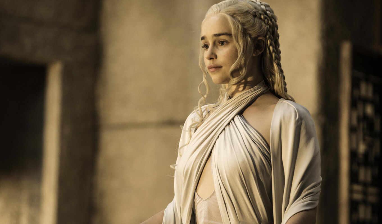 game, thrones, daenerys, targaryen, her, khaleesi, emilia, clarke,