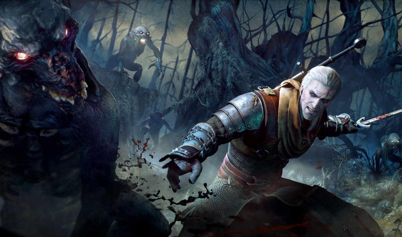 ведьмак, wild, hunt, дикая, мечи, hunting,