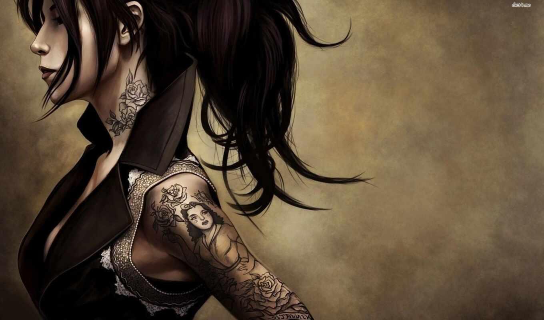 татуировка, pierce, motor, машина, square, strong