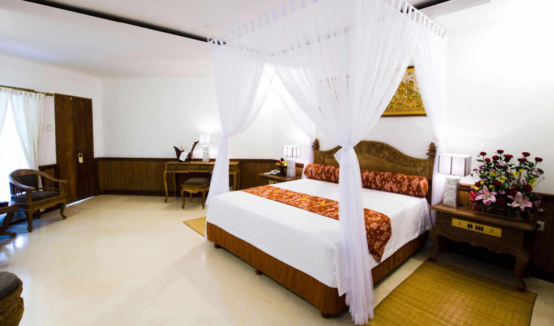 кровать, спальня, комната, балдахин, цветы, красивые, столик, королевские, апартаменты, keraton, jimbaran, картинку, разрешением, ней, дизайн, resort, картинка, выберите, правой, мыши, кнопкой,