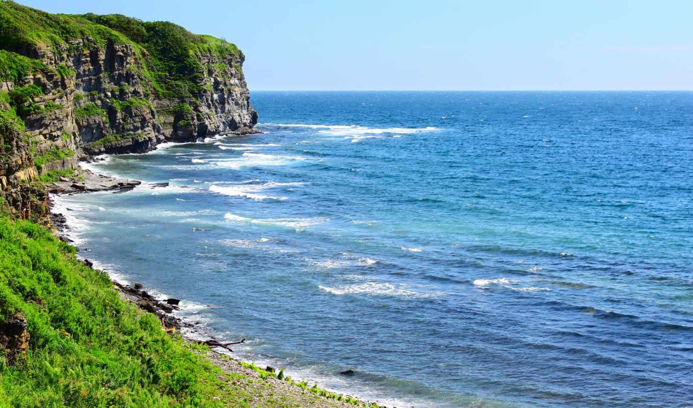 море, берег, пейзажи, вода, скалы, океан, пляжи, cliffs,
