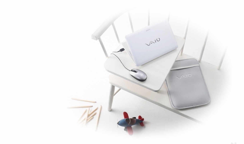 white, sony, ноутбук, vaio, mouse, tech,