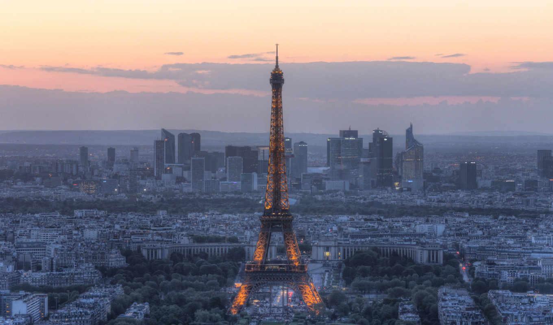 , эйфелева, башня, париж, ыечер