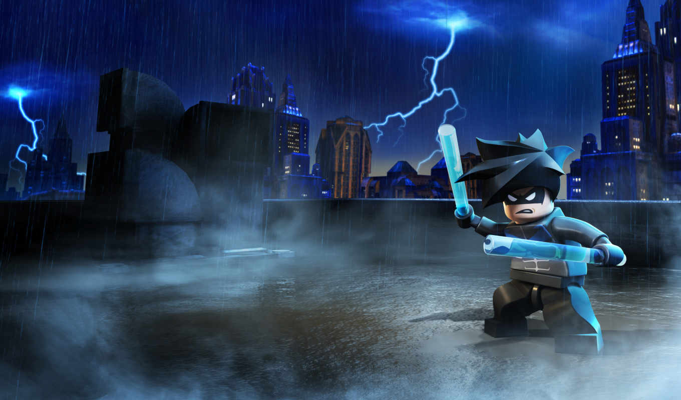 lego, batman, nightwing, heroes, супер,
