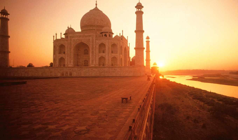 mahal, taj, india, дели, день, индии,