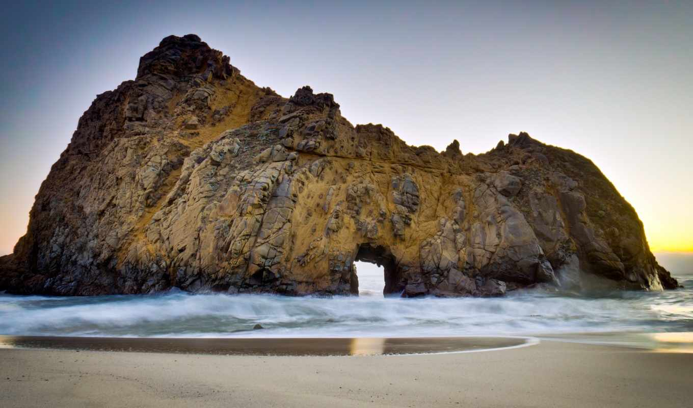 пляж, pfeiffer, природа, california, биг, this, sur,