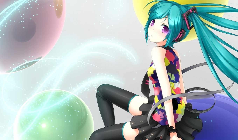 anime, hatsune, para, pantalla, miku, приколы, бесплатные, музыку, под, fondo,