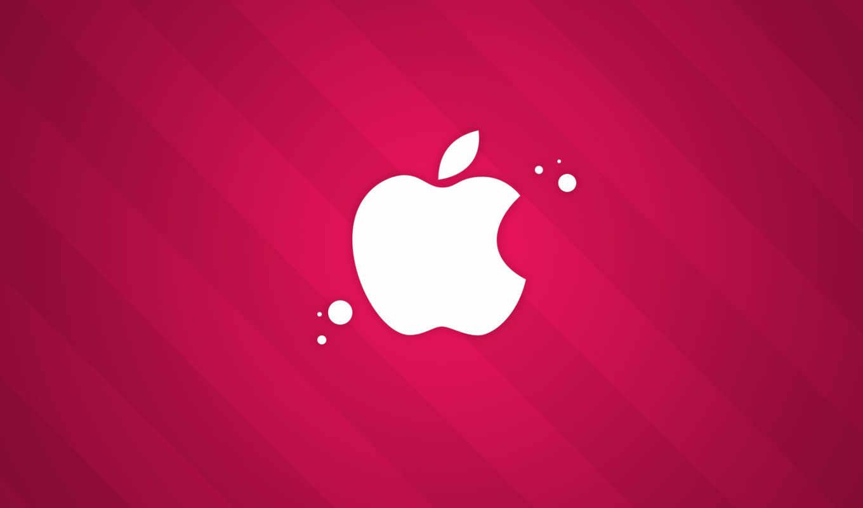 apple, розовый,
