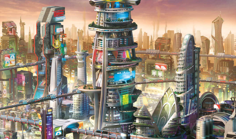simcity, будущего, города, дополнение, нояб, город,