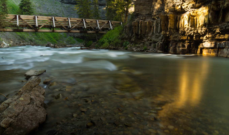 montana, desktop, река, природа, cool, мост,