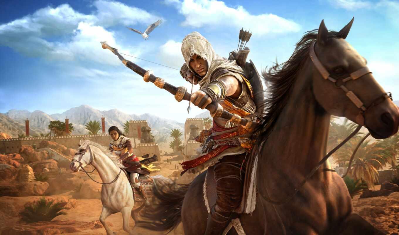 assassin, creed, origin, game, ubisoft, руб, дополнение, archer, new, лошадь