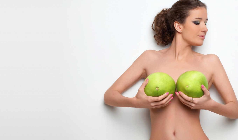 фрукты, грудь, брюнетка, девушка, зелёный, талия, шорты, правой, белый, кнопкой, сиськи, голая, картинку, обнаженная,