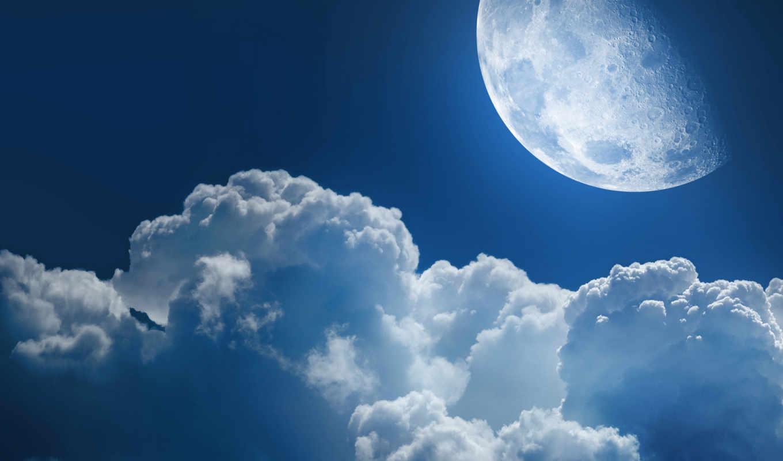 луна, космос, планета, планеты, облака, облако, звезда, clouds, ночь, звезды, небо, небеса, просторы,