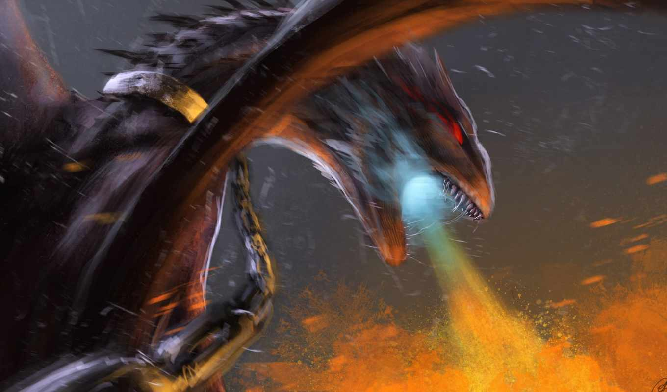 fire, pictures, breathing, dragon,  fantasy,