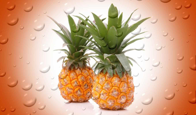 fondos, imágenes, por, página, pantalla, pineapple, todofondos, ananas, frutas,