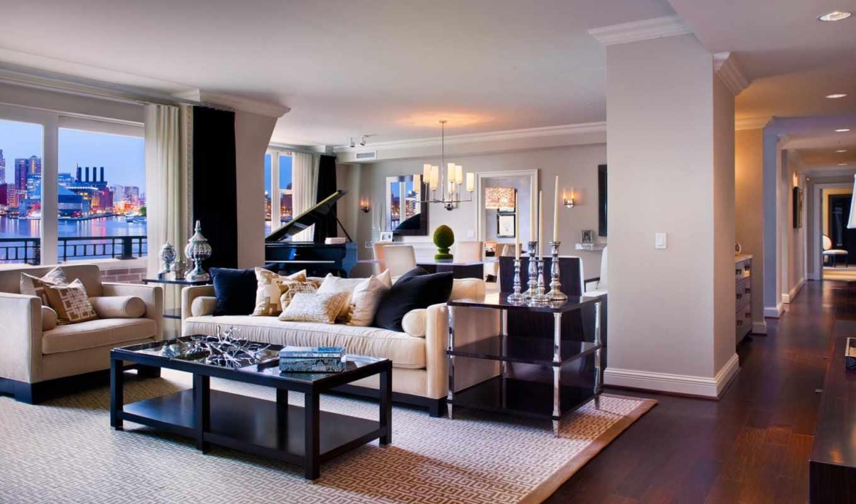 carlton, ritz, interer, residences, baltimore, harbor, inner,