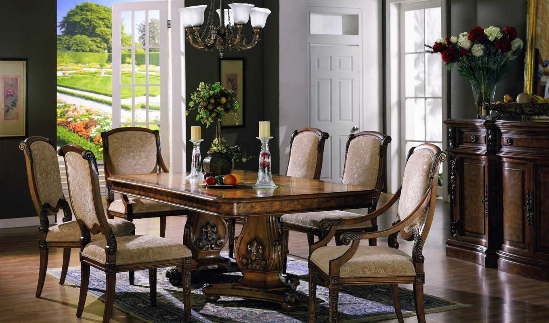 стулья, интерьер, кресла, wooden,