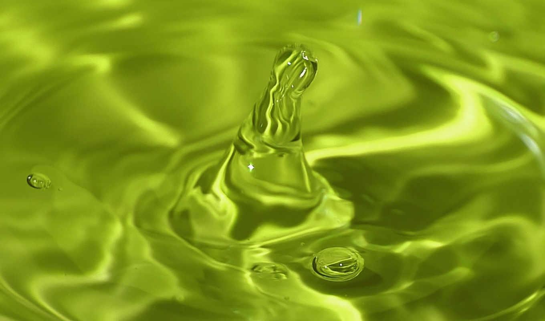башенка, вода, макро, разводы, зелёная, капля,