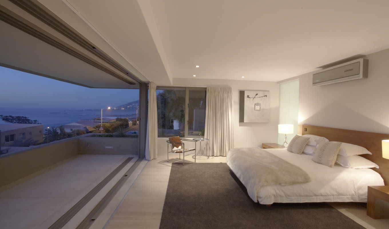 квартира, люкс, пентхаус, море, океан, спальня,