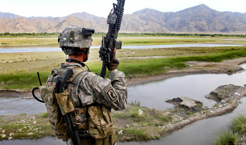 солдат, сша, оружие,