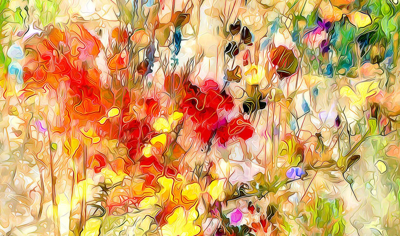 flowers, цветы, абстракции, поле, картинка, tablouri, изображение, цена, мешок, kwiaty, kolorowe,