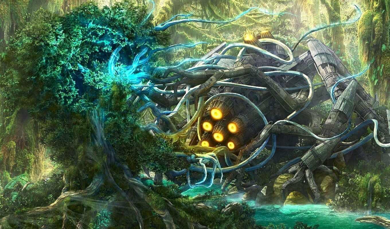engine, корабль, fentezti, human, drawing, science, книга, лес, фантастика