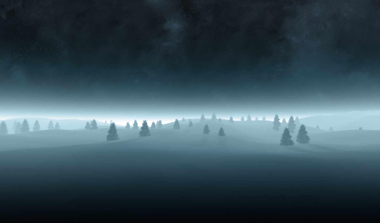елки, ночь, wallpaper, звездное, christmas, елочки, елка, небо, wallpapers, dreaming, season, designs, wrecks, dark, снег, картинка,