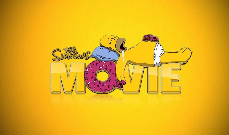 симпсоны, homer, мультфильмы, пончики, simpsons,