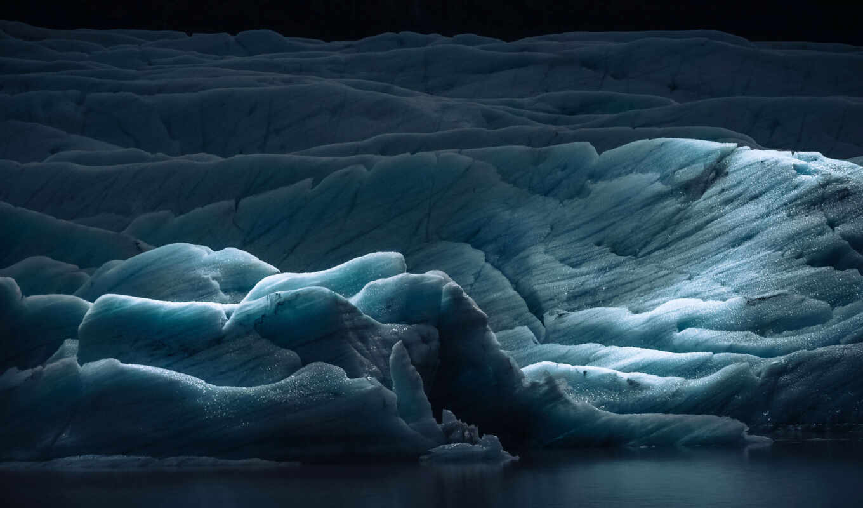 glacier, layer, природа, снег, лед, палуба, экран, dark