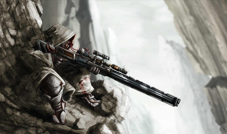 обои, снайпер, винтовка, игры, sniper, арт, фото,
