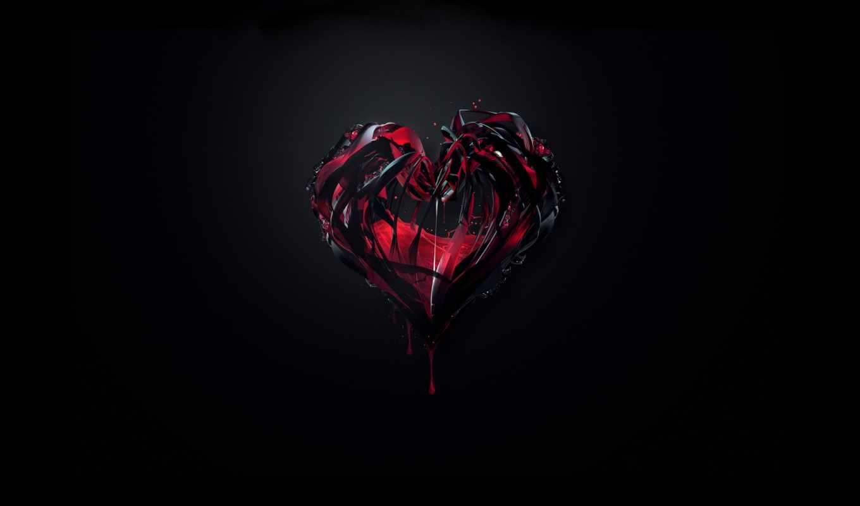 сердце, клипарт, жутко, красный, черный, капли