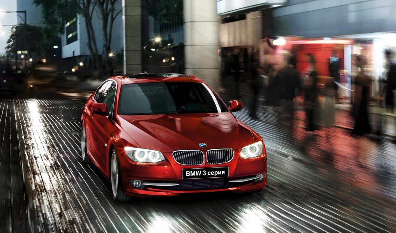 ,bmw, серия, красный, coupe,