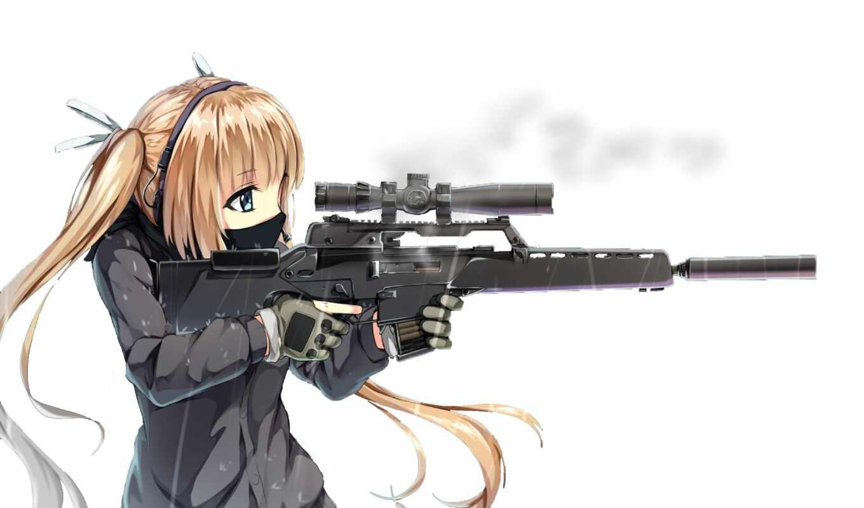 оружие, anim, anime, винтовка, amino, девушка, tyanin, арта, путь, джин