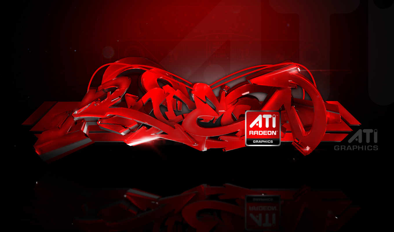 ati, radeon, graffiti, red