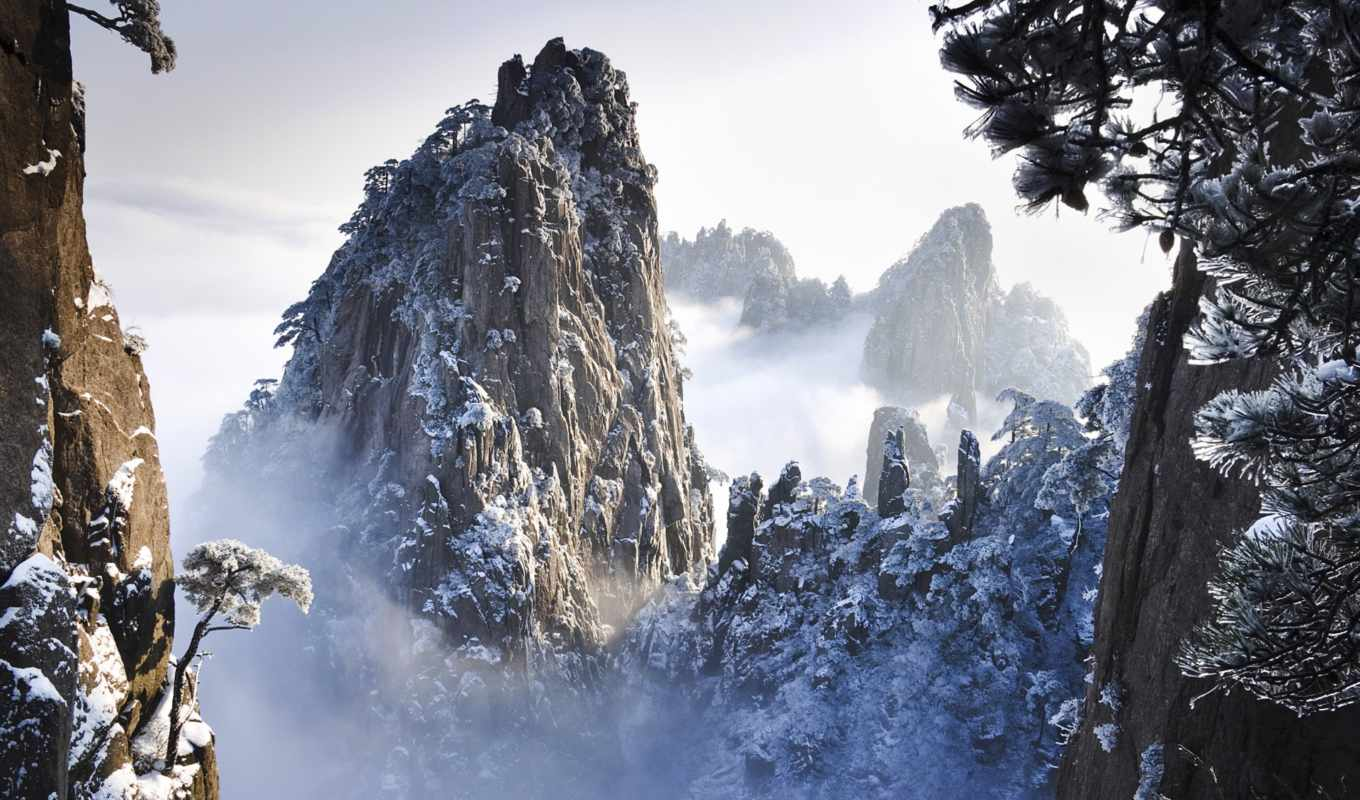 winter, wallpaper, desktop, huangshan, wallpapers, mountains, anhui, china, images, and, nature, to, pack,