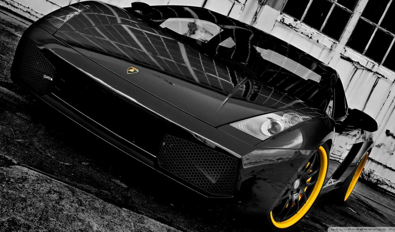 lamborghini, black, gallardo, forged,