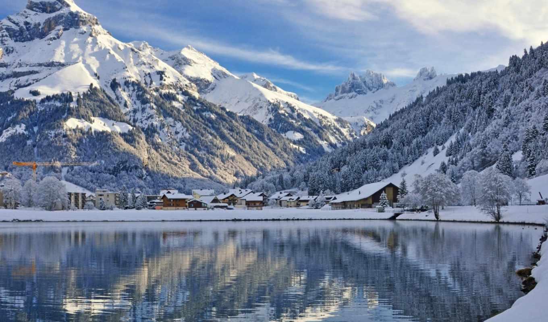 winter, desktop, широкоформатные, заставки, зимние, швейцария, качественные,
