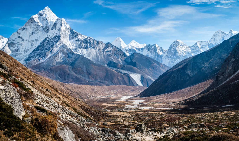 горы, name, товара, природа, озеро, лодки, тихой, воде, непала, nepal, утренняя,