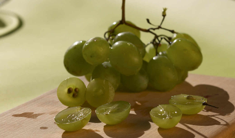 grapes, прекрасных, fruits, white,