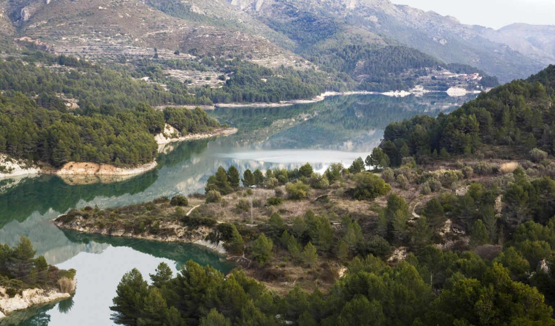 река, valencia, испания, clear, природа,