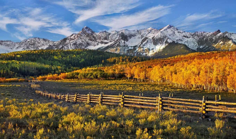 забор, гора, деревья, лес, облака, осень, небо, picture, wallpaper, картинка, пейзаж, as, картинку, wallpapers, mountain, to, ней, выберите, мыши, кнопкой, правой, save,