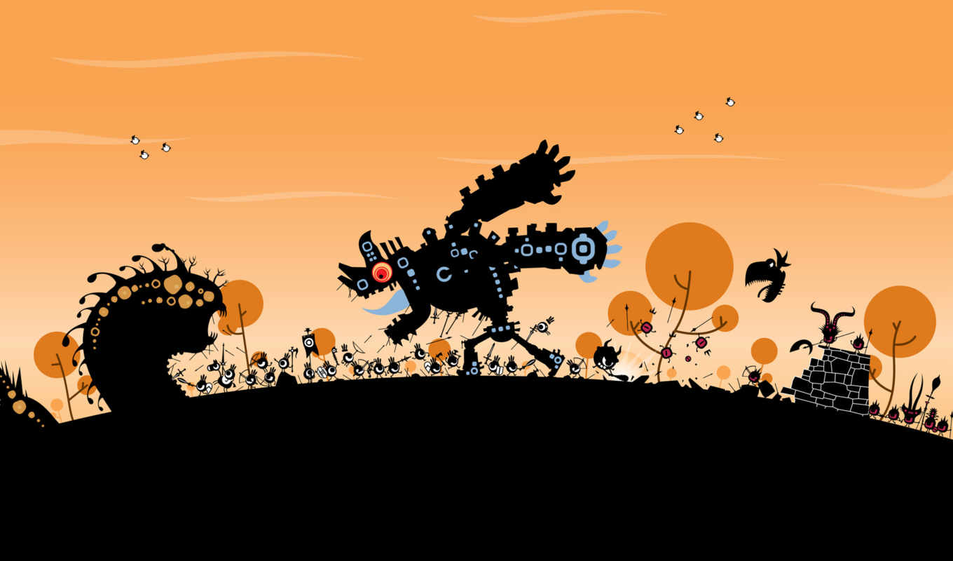 patapon, game, игры, desktop, funny, изображение, background, free, creative, pata, covers, facebook,
